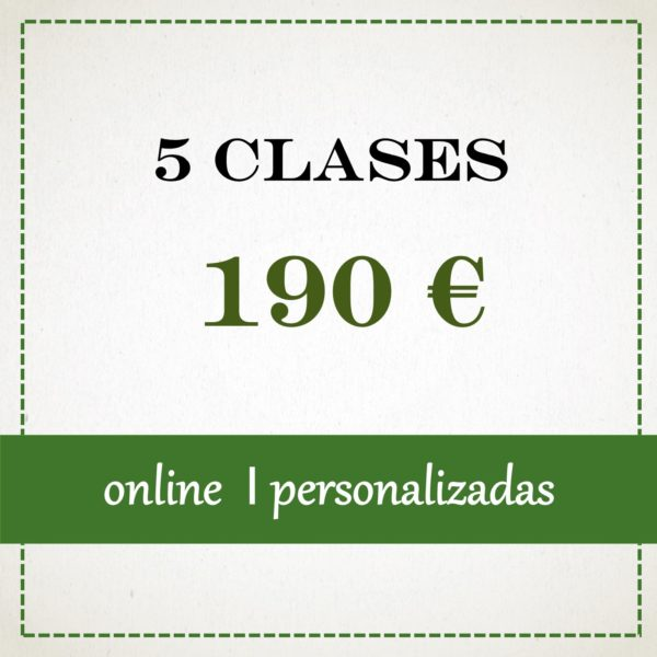 5 clases individuales