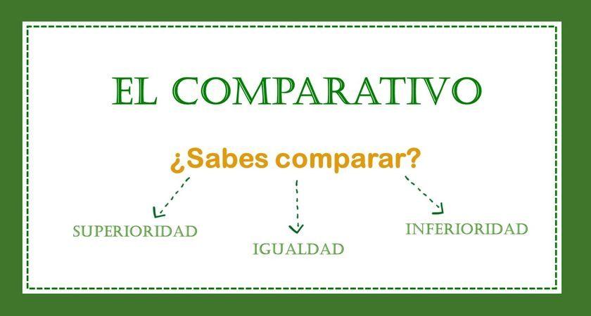 ¿Sabes comparar?: el comparativo